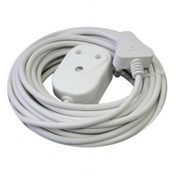 Alphacell White Extension Cord 10A - 15m