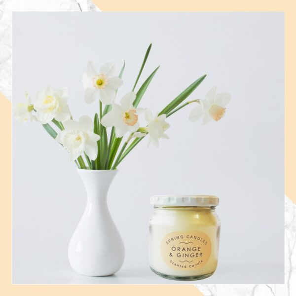 Scented spring candle